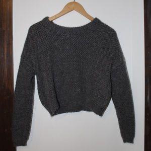 OBEY gray wool sweater